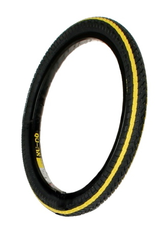 Qu-ax Tyre 20''x1.95'' black with yellow stripes - art. 2043